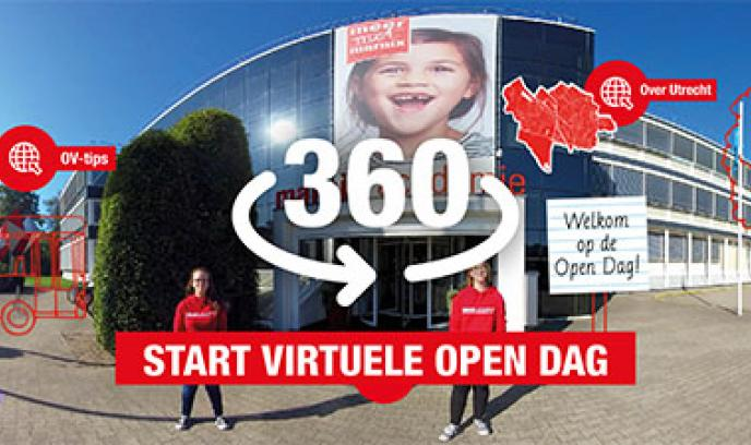 Virtuele tour en aangepaste open dag
